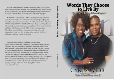 Cyrus Webb Announces Inspirational New Book, WORDS THEY CHOOSE TO LIVE BY
